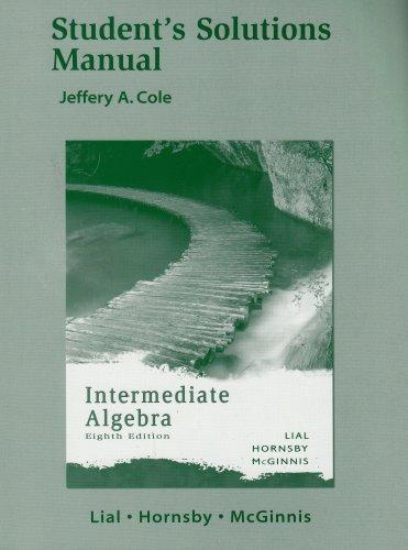 9780321285690: Intermediate Algebra - Student's Solutions Manual
