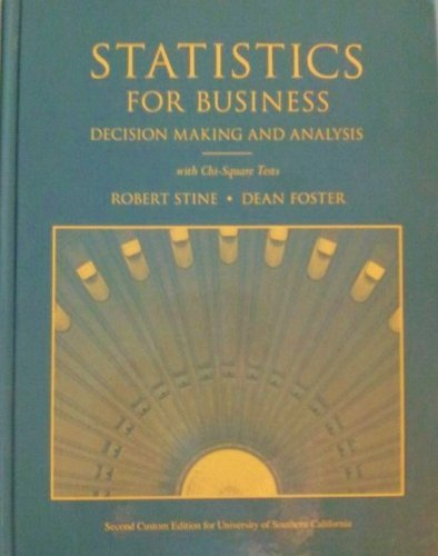 9780321286147: Student Solutions Manual for Statistics for Business: Decision Making and Analysis