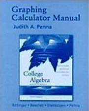 9780321288097: Graphing Calculator Manual
