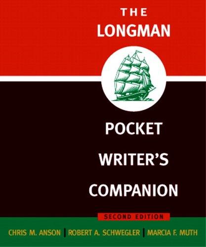 9780321288264: Longman Pocket Writer's Companion, The (2nd Edition)
