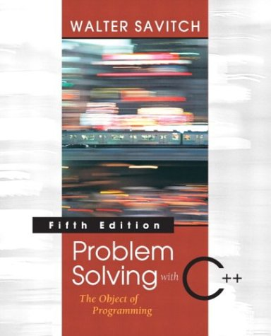 9780321288349: Problem Solving with C++: The Object of Programming, Visual C++ .NET Edition (5th Edition)