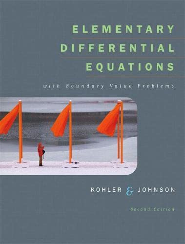 Elementary Differential Equations with Boundary Value Problems: Werner E. Kohler;