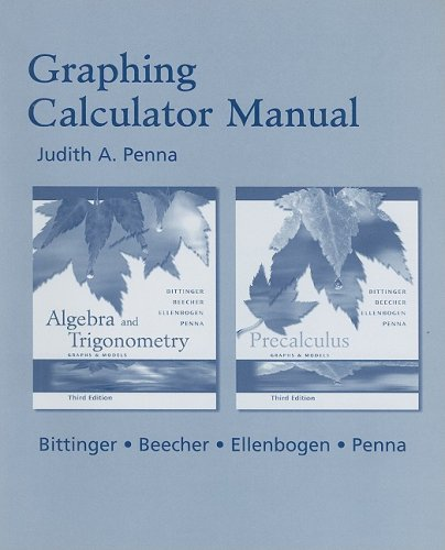 Precalculus Graphs Models Graphing Calculator by Marvin Bittinger ...