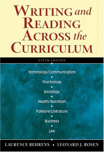 9780321291004: Writing and Reading Across the Curriculum