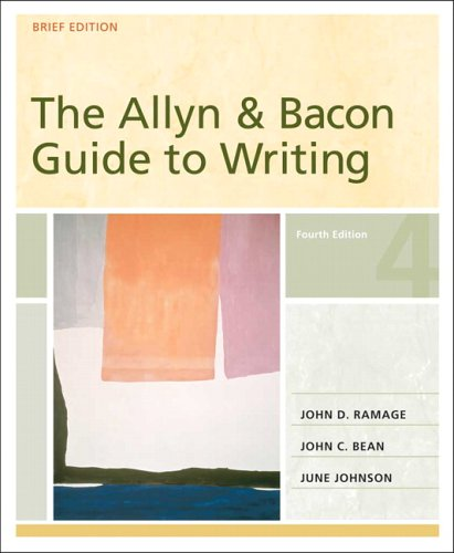 Allyn & Bacon Guide to Writing, Brief: John D. Ramage,