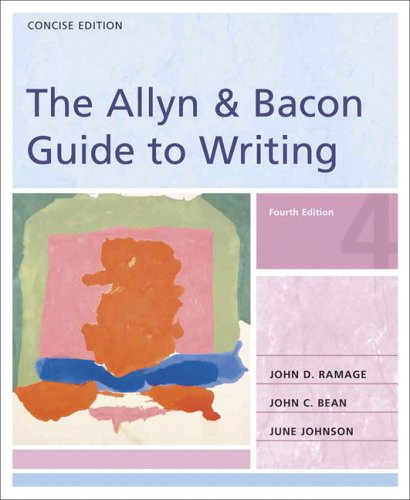 9780321291523: The Allyn & Bacon Guide to Writing: Concise Edition (4th Edition)