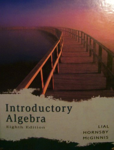 9780321292247: Introductory Algebra (8th Edition)