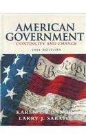 9780321292254: American Government: Continuity and Change