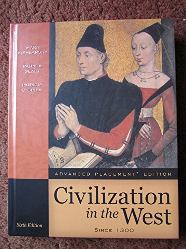 9780321292353: Civilization in the West Since 1300