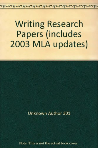 9780321292520: Writing Research Papers (includes 2003 MLA updates)