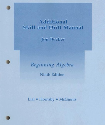 Additional Skill and Drill Manual: Margaret Lial John