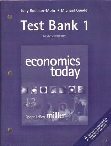9780321304063: Test Bank 1 to Accompany Economics Today 13th Edition
