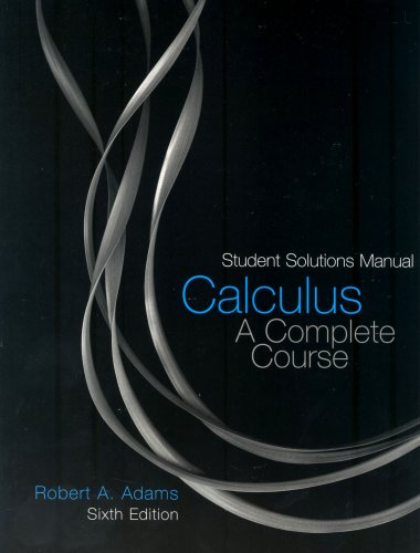 9780321307132: Calculus: Student Solutions Manual: A Complete Course