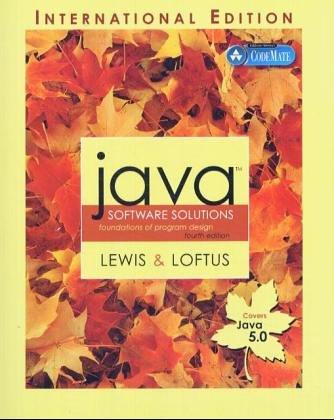 9780321312464: Java Software Solutions (Java 5.0 version): Foundations of Program Design: International Edition: Java 5 Version