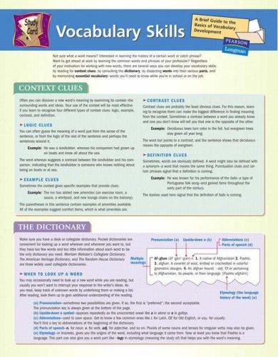 9780321318022: Study Card Vocab