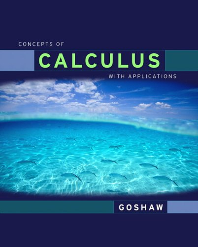 9780321320780: Concepts of Calculus with Applications