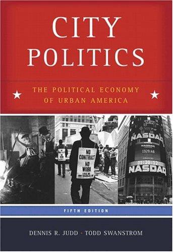 9780321328168: City Politics: The Political Economy of Urban America (5th Edition)