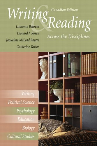Writing and Reading Across the Disciplines, First: Behrens, Laurence M.;