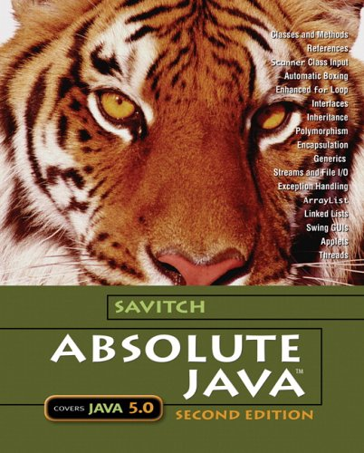 9780321330246: Absolute Java with Student Resource Disk (2nd Edition)