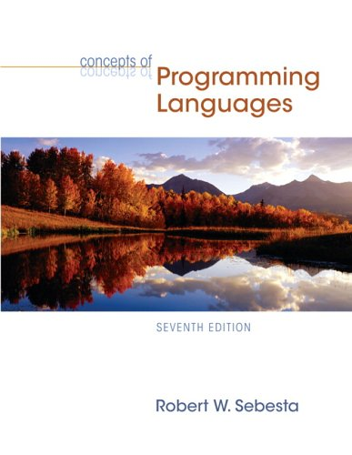 9780321330253: Concepts of Programming Languages (7th Edition)