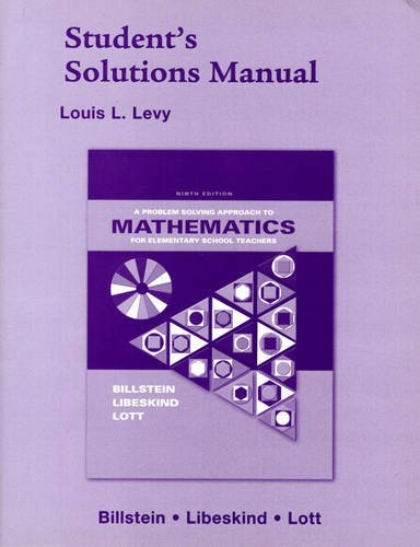 A Problem Solving Approach to Mathematics for: Louis L. Levy,