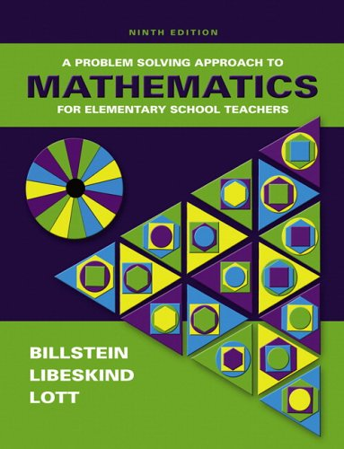 9780321331793: A Problem Solving Approach to Mathematics for Elementary School Teachers (9th Edition)