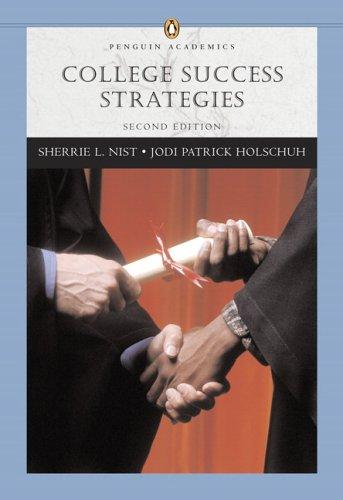 College Success Strategies (Penguin Academics Series): Sherrie L. Nist-Olejnik,