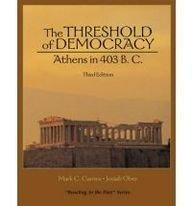 9780321333032: Threshold of Democracy: Athens in 403 B.C.