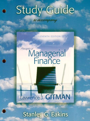 Principle Managerial Finance: Lawrence J. Gitman