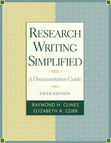 9780321333421: Research Writing Simplified: A Documentation Guide