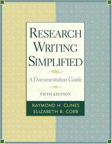 9780321333421: Research Writing Simplified: A Documentation Guide (5th Edition)