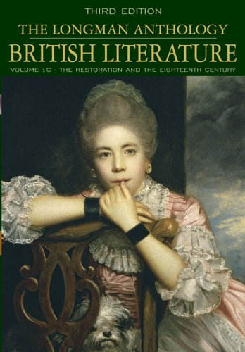 9780321333933: Longman Anthology of British Literature, Volume 1C: The Restoration and the Eighteenth Century, The (3rd Edition)
