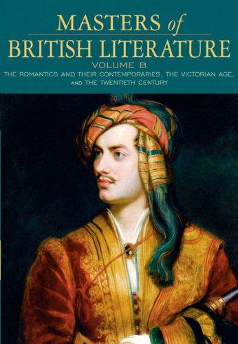 9780321334008: Masters of British Literature, Volume B