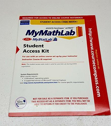 9780321334350: Getting Started Mymathlab Cc F
