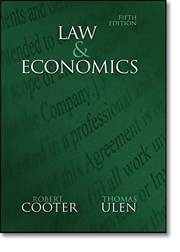 9780321336347: Law and Economics (5th Edition)