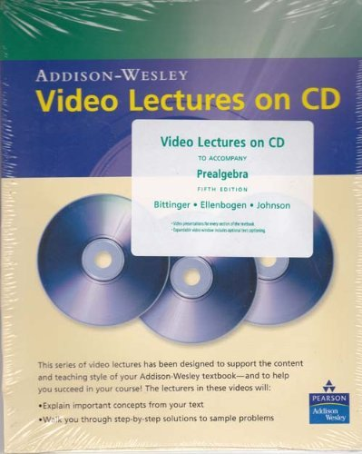 9780321337061: Video Lectures on CD to Accompany Prealgebra