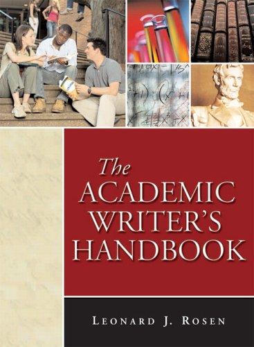 9780321338310: The Academic Writer's Handbook