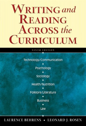 9780321343536: Writing and Reading Across the Curriculum (with MyCompLab) (9th Edition)