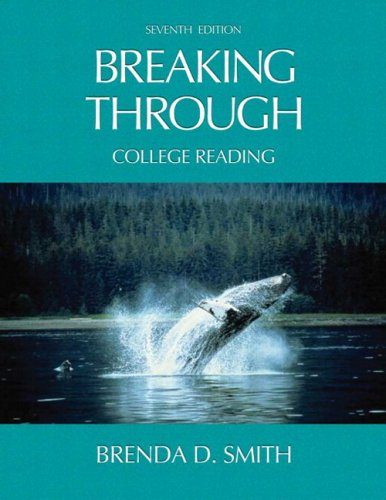 9780321346339: Breaking Through: College Reading (with Study Card for Vocabulary) (7th Edition)