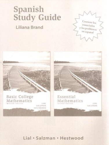 9780321348203: Spanish Study Guide for Basic College Mathematics