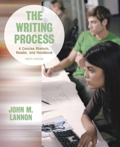9780321355706: The Writing Process: A Concise Rhetoric, Reader, and Handbook (9th Edition)