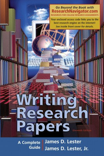 9780321356000: Writing Research Papers, Research Navigator Edition