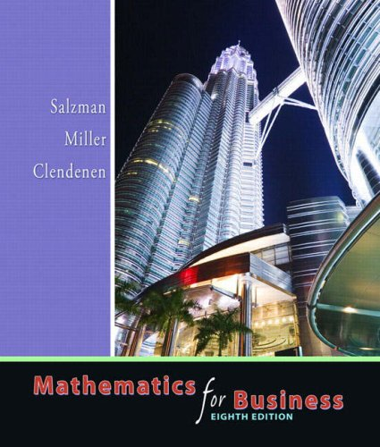 9780321357434: Mathematics for Business (8th Edition)