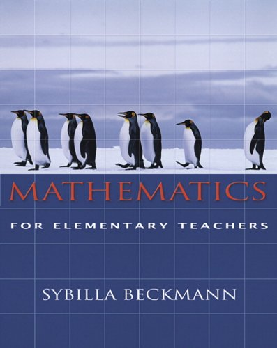 9780321357731: Mathematics For Elementary Teachers With Activities