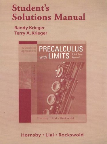 9780321358196: Student Solutions Manual for A Graphical Approach to Precalculus with Limits