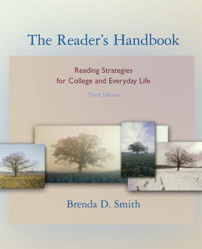 9780321365118: The Reader's Handbook: Reading Strategies for College and Everyday Life (book alone) (3rd Edition)