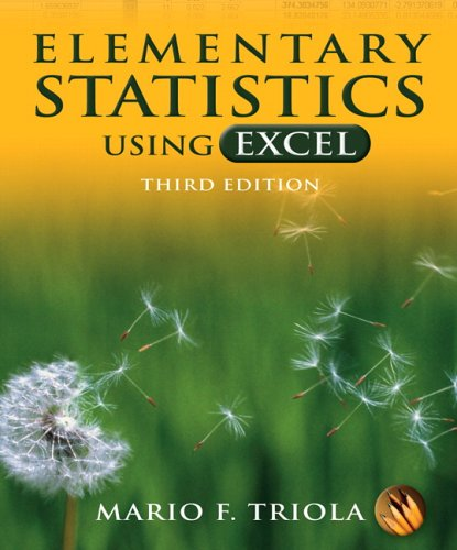 9780321365132: Elementary Statistics Using Excel, 3rd Edition (Book & CD-ROM)