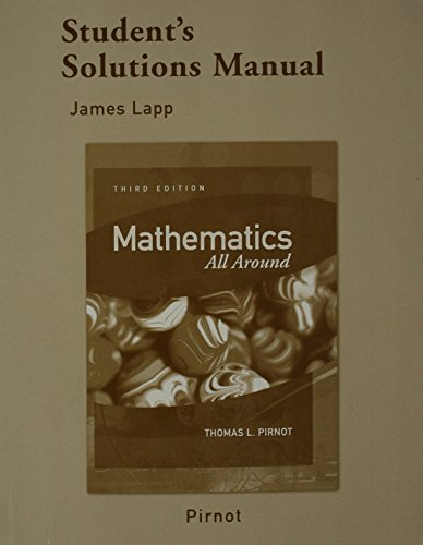 9780321368591: Student Solutions Manual for Mathematics All Around