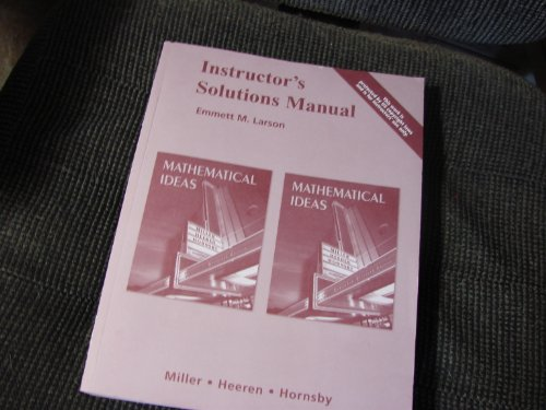 9780321369703: Instructor's Solutions Manual Mathematical Ideas
