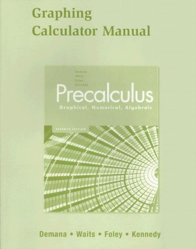 Graphing Calculator Manual for Precalculus : Graphical,: Daniel Kennedy; Franklin